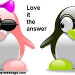 Love is the answer birthday message