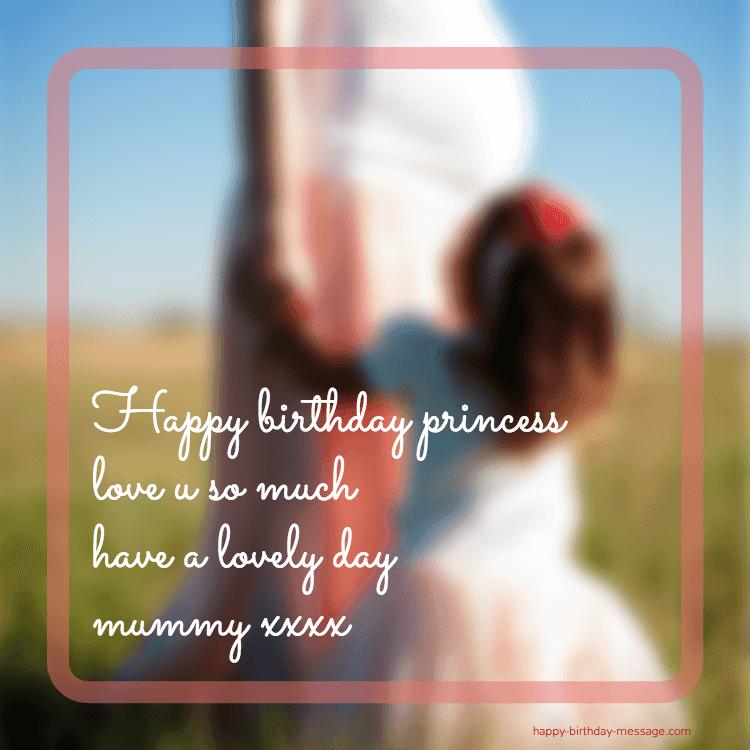 Happy birthday princess love u greeting card