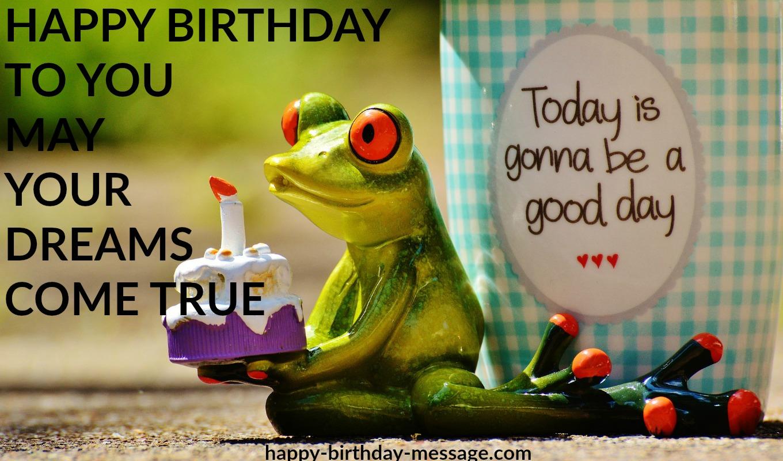 happy birthday may your dreams come true